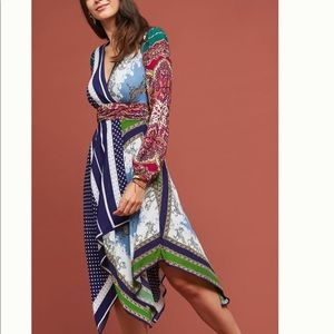 BNWT Anthropologie Istanbul Wrap Dress 0P